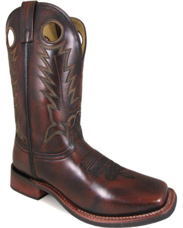 Smoky Mountain Boys Chocolate Landry Pull On Boot Square Toe