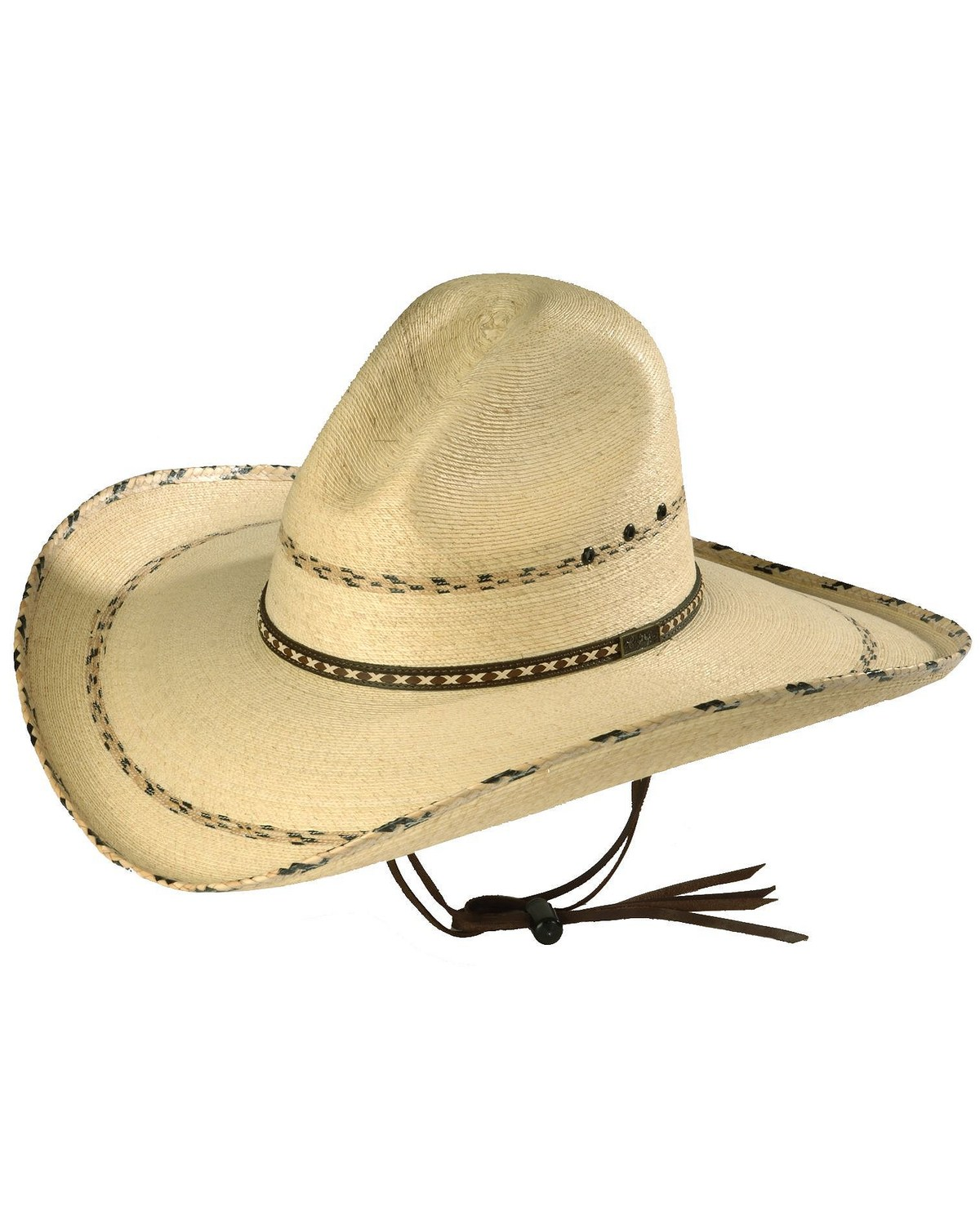 Larry Mahan 30X Pancho Gus Palm Straw Western Hat  297af02239f