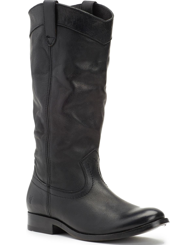 adab0520597b3 Frye Women s Black Melissa Pull On Boots - Round Toe