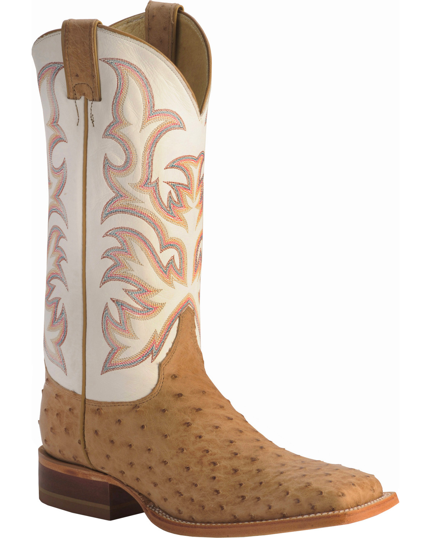 67a4054608d Justin Men's AQHA Remuda Full Quill Ostrich Exotic Boots