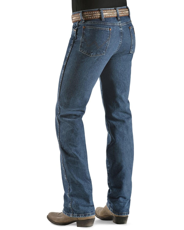 c38b1ce33 Zoomed Image Wrangler 936 Cowboy Cut Slim Fit Prewashed Jeans, Stonewash,  hi-res