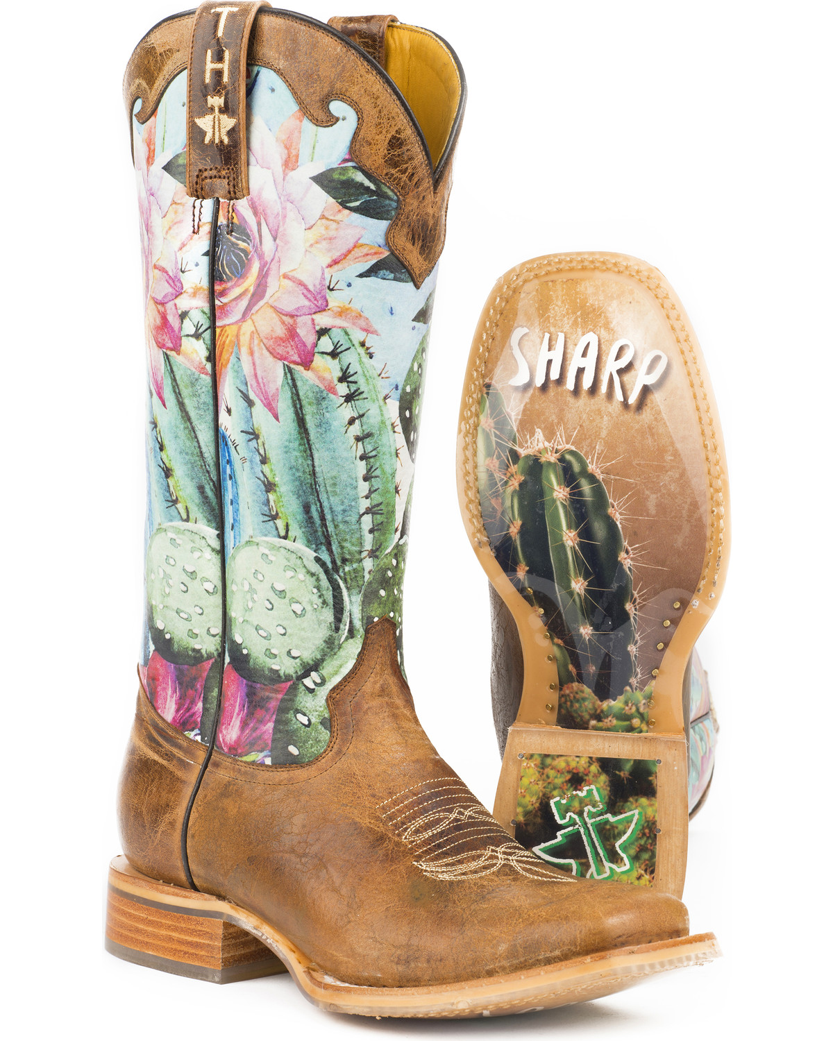 Tin Haul Women S Cactilicious Looking Sharp Sole Cowgirl