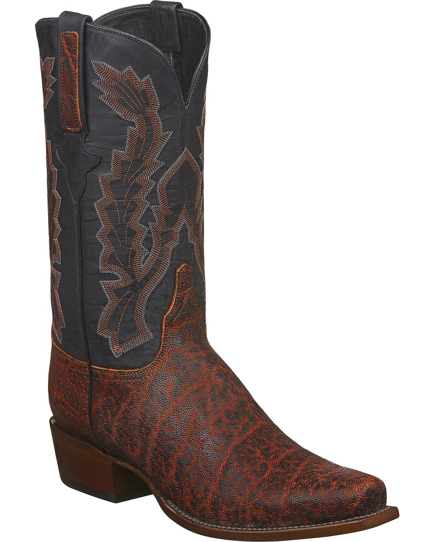 86024a5270d Lucchese Men's Handmade Kirkland Bark Elephant Western Boots - Snip Toe