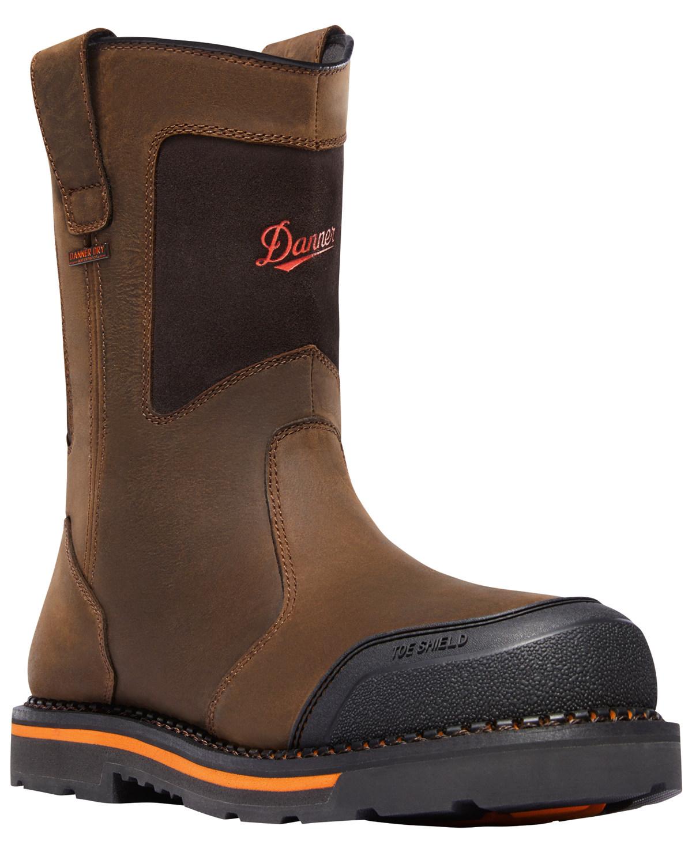 a9440b7a7ca Danner Men's Brown Trakwelt Wellington Waterproof Boots - Composite Toe