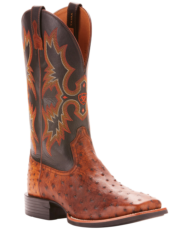dfe681ec5e7 Ariat Men's Full Quill Ostrich Exotic Western Boots - Wide Square Toe
