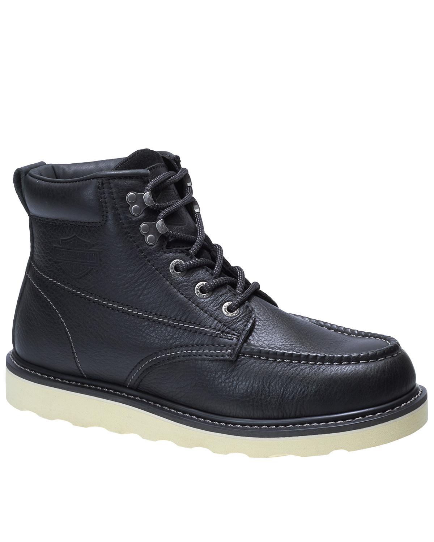 bb17099d086 Harley Davidson Men's Bosworth Black Work Boots - Moc Toe