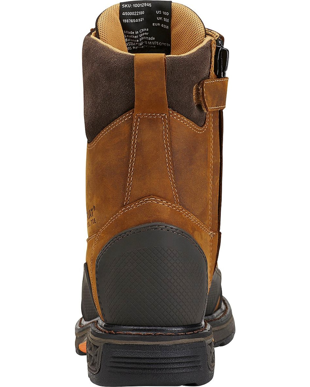 Ariat Men S Overdrive 174 Xtr 8 Quot W Side Zip St Work Boots