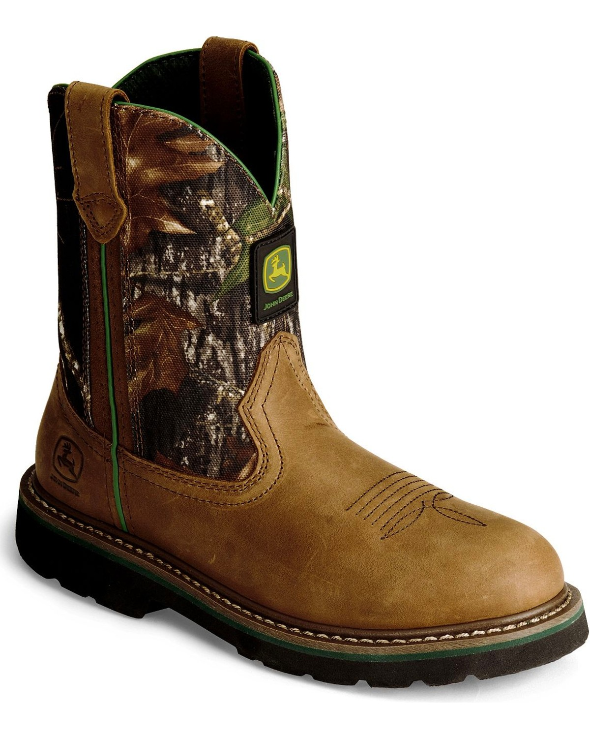 044d1936ead John Deere Youth Boys' Camouflage Boot - Round Toe