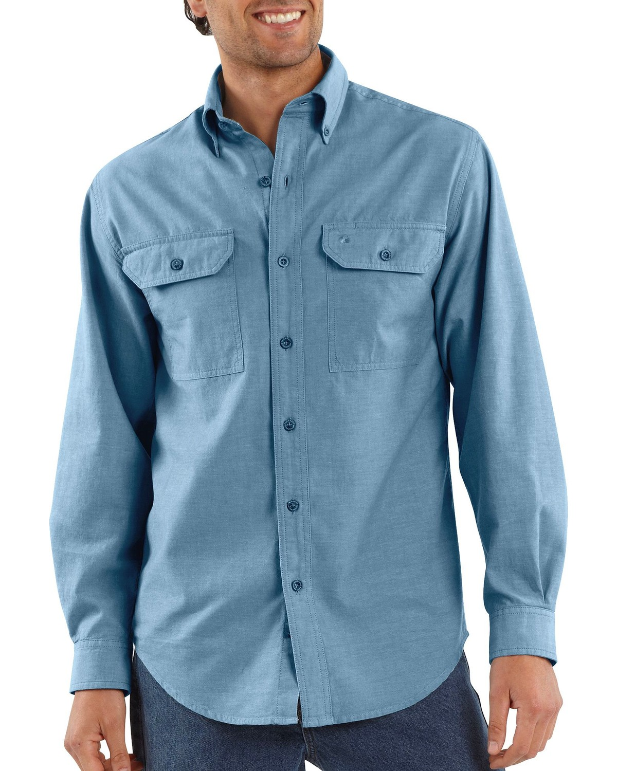06584313952 Carhartt Men s Long Sleeve Chambray Shirt