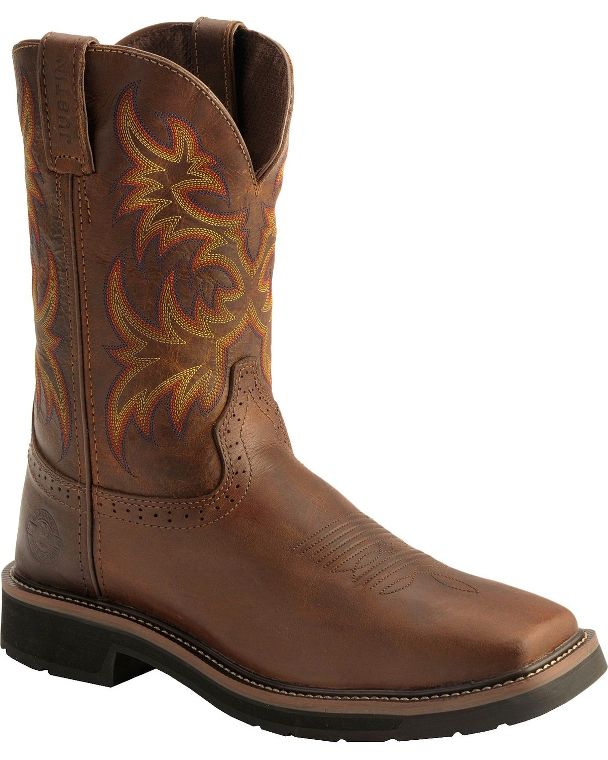 Rugged Western Work Boots