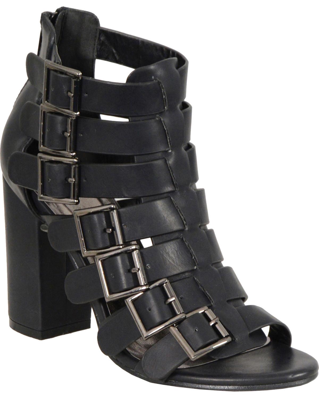 Block Heel Strappy Sandals