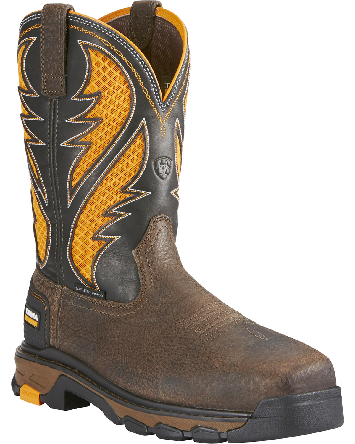 Ariat Men's Intrepid VentTEK Comp Toe Pull-On Safety Work Boots