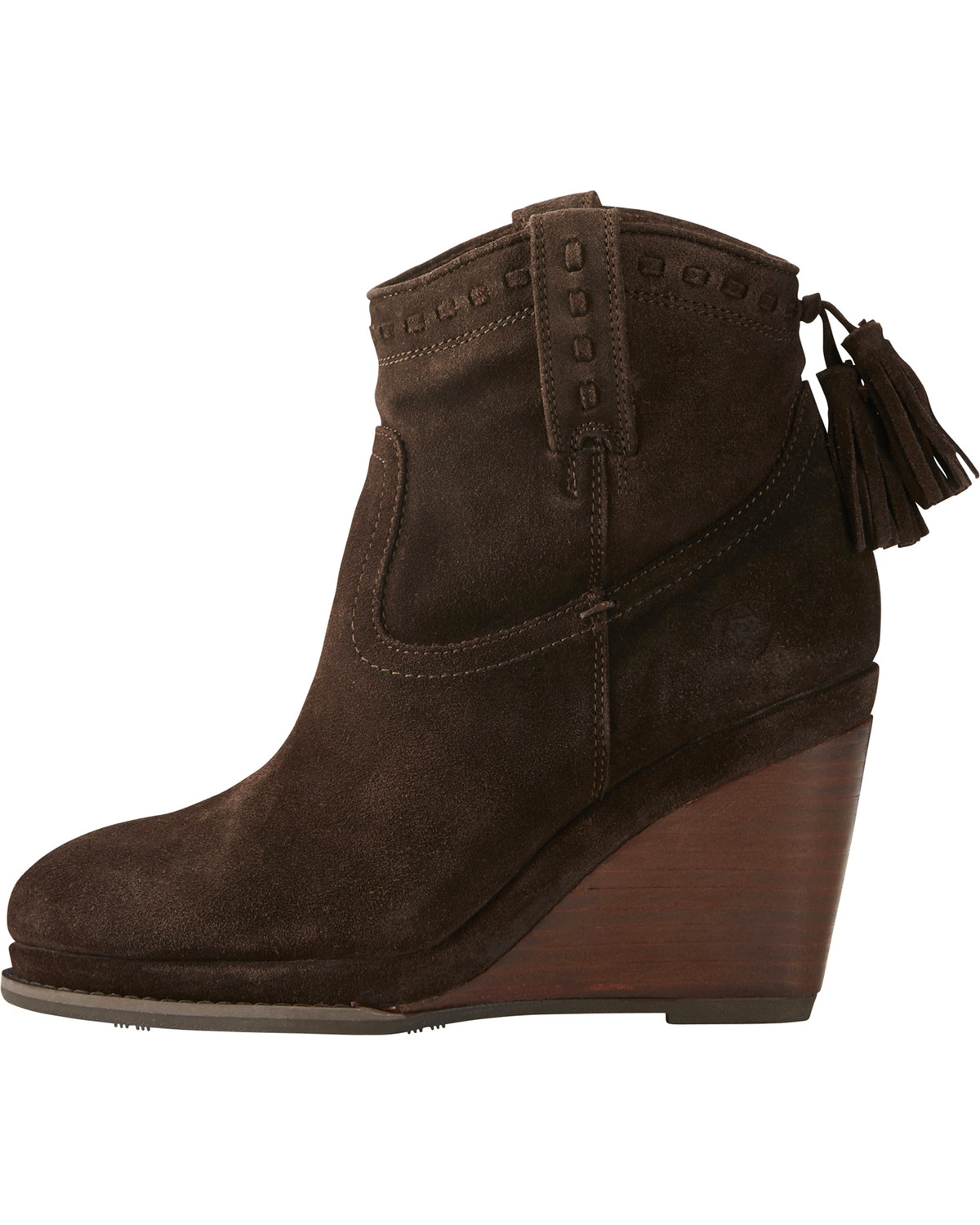 To acquire Brown Dark wedge booties picture trends