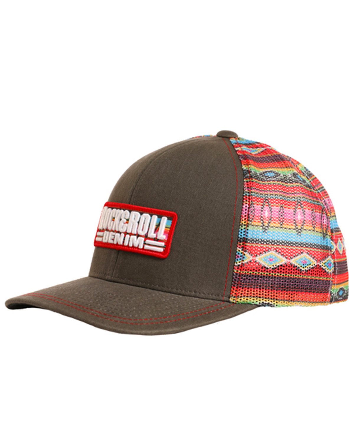 Rock   Roll Denim Men s Serape Printed Mesh Cap  6991e530002