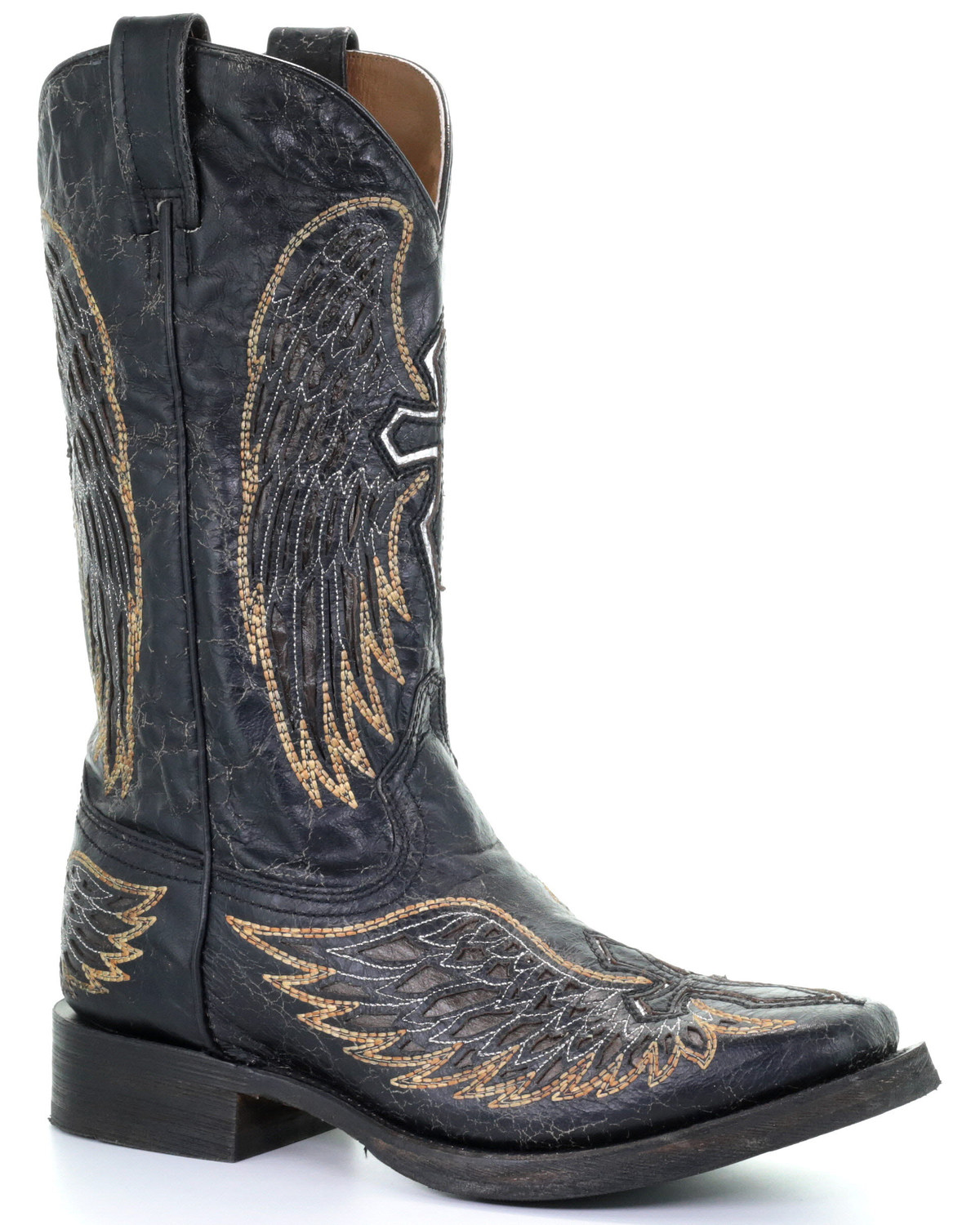 Corral Men's Wings & Cross Inlay Western Boots - Square Toe   Boot Barn