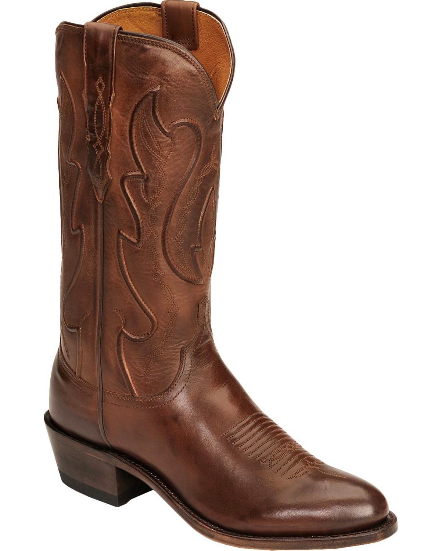 089ea18ee29 Lucchese Handmade 1883 Cole Ranch Hand Cowboy Boots - Medium Toe
