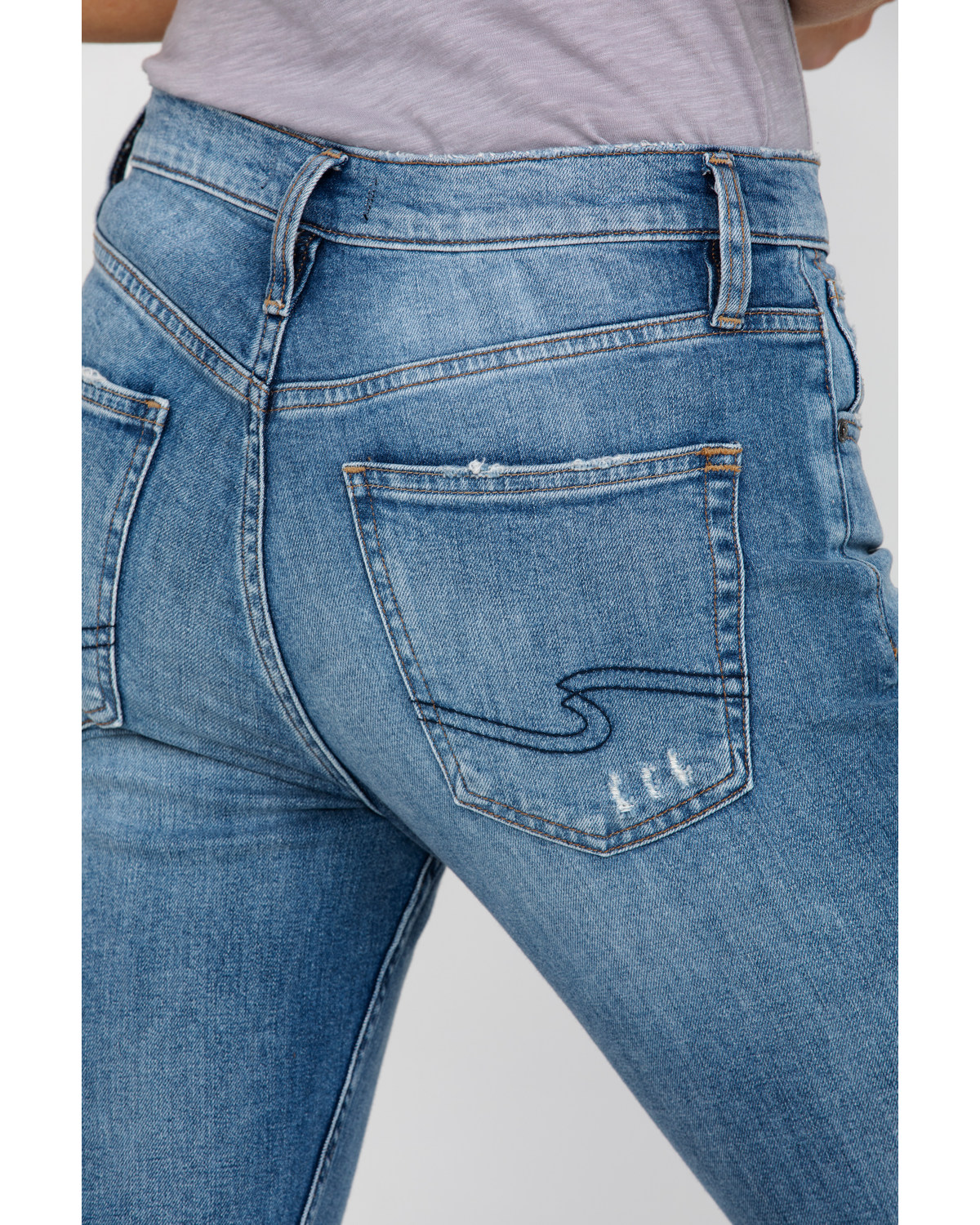 7a3171a2d0f Silver Women s Frisco High Rise Tapered Jeans