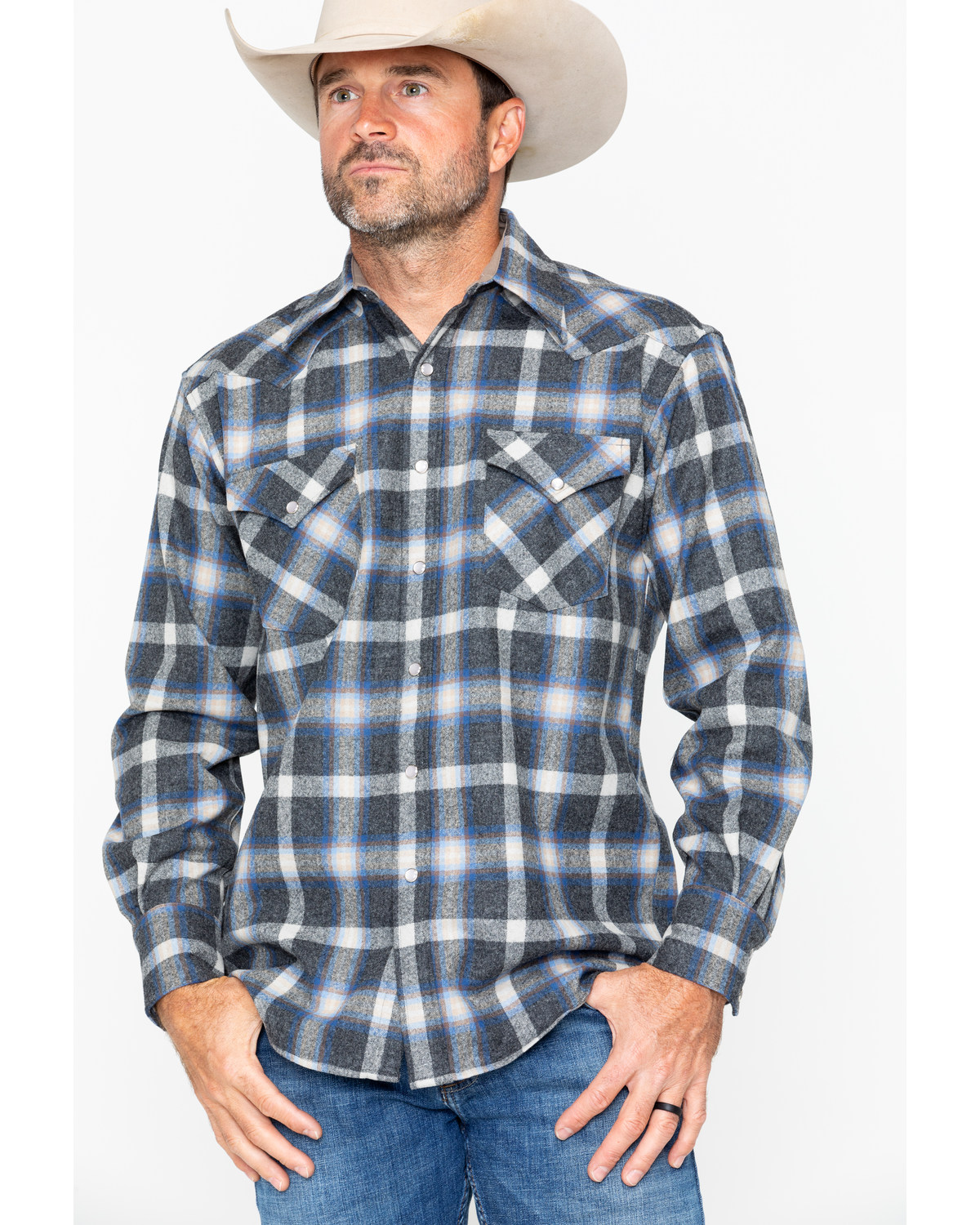 1a8813afedf Pendleton Men's Western Wear Wool Canyon Flannel Shirt
