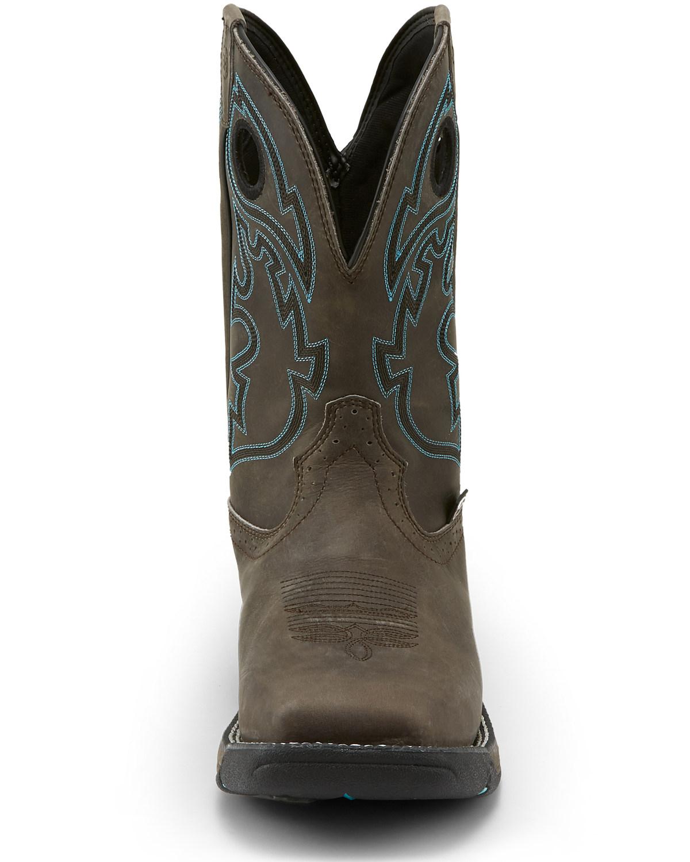Justin Men S Stampede Rush Western Work Boots Steel Toe