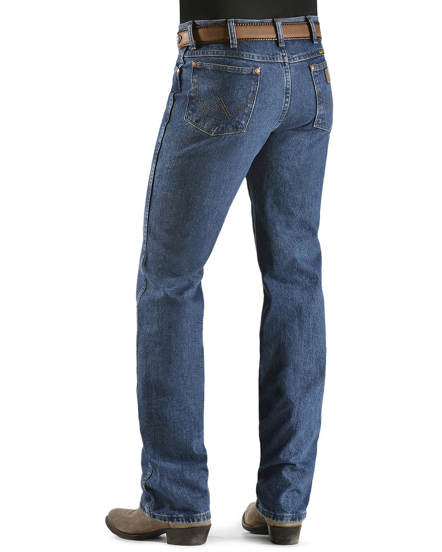 0a0e7852 Zoomed Image Wrangler Men's Cowboy Cut Slim Fit Jeans, Dark Stone, ...