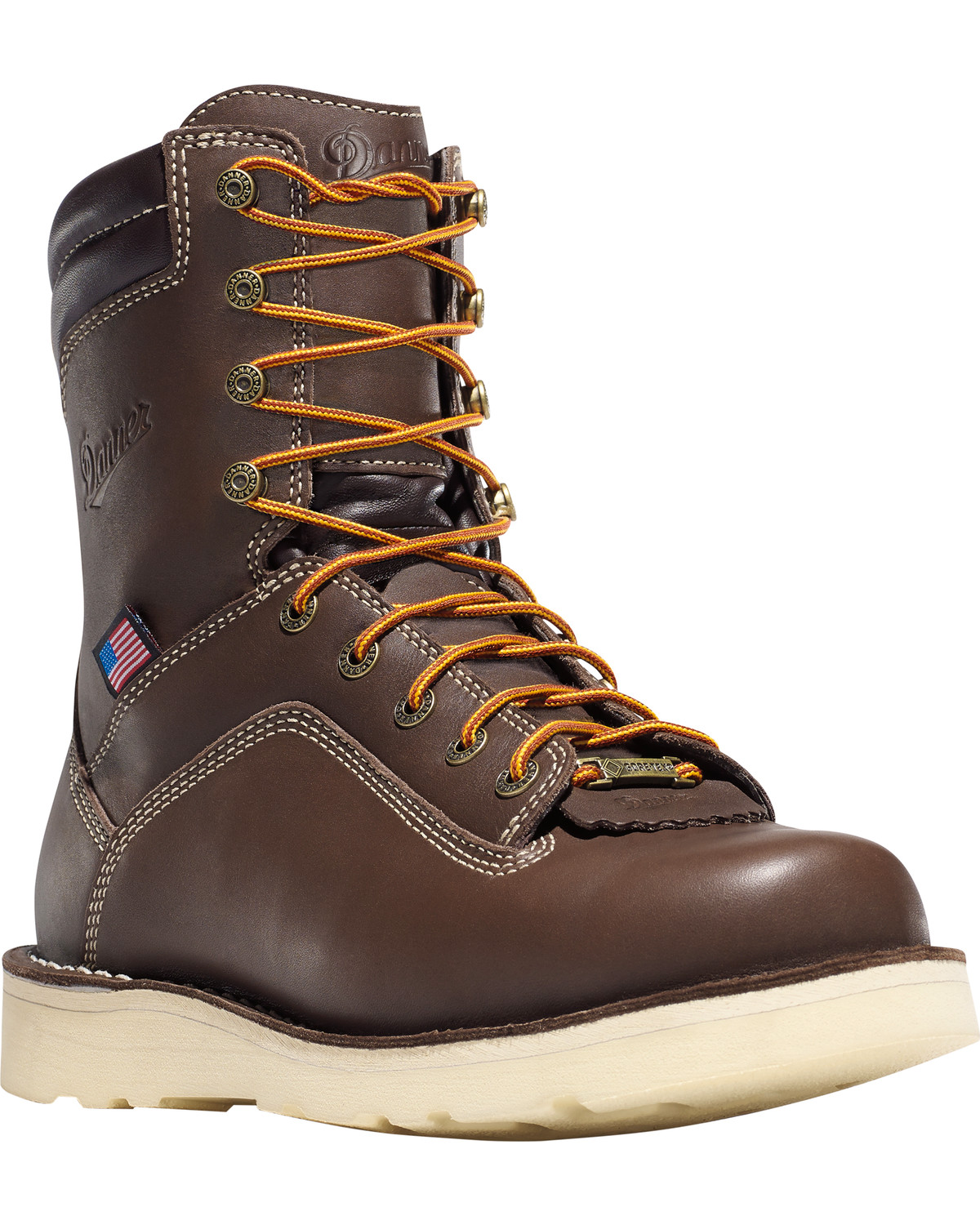 Danner Men S Brown Quarry Usa 8 Quot Wedge Work Boots Alloy