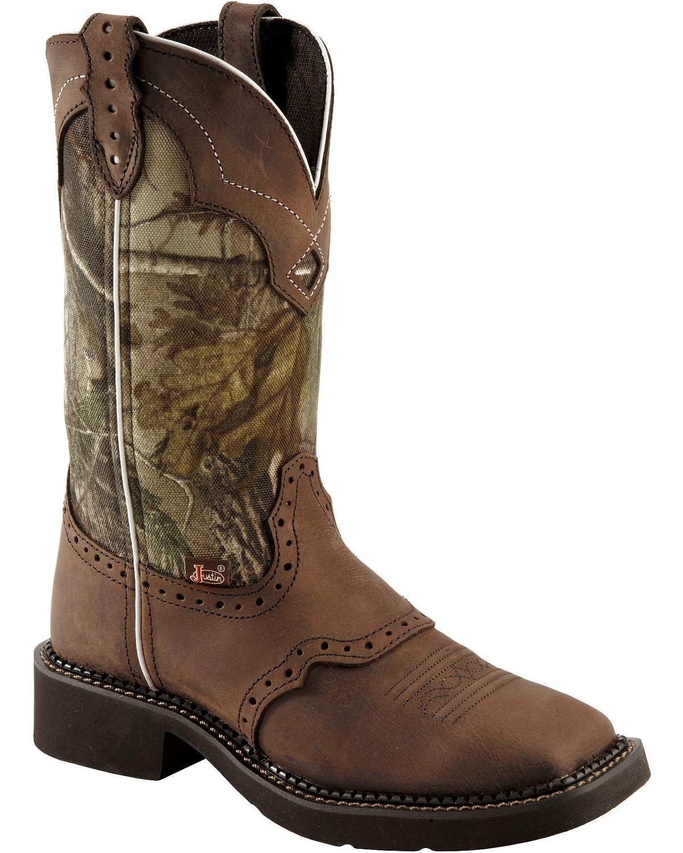 justin womens gypsy mossy oak western boots boot barn