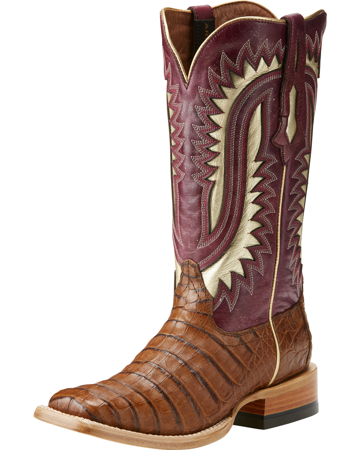 8d8e680a7e8 Ariat Women's Silverado Brown Caiman Cowgirl Boots - Square Toe