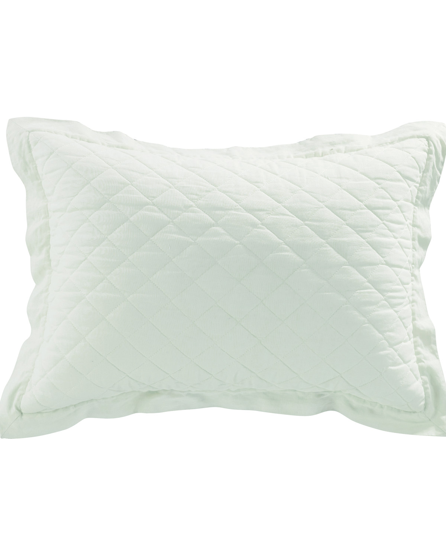 Standard Grey Hiend Accents Diamond Pattern Linen Quilted Sham Pillow Shams