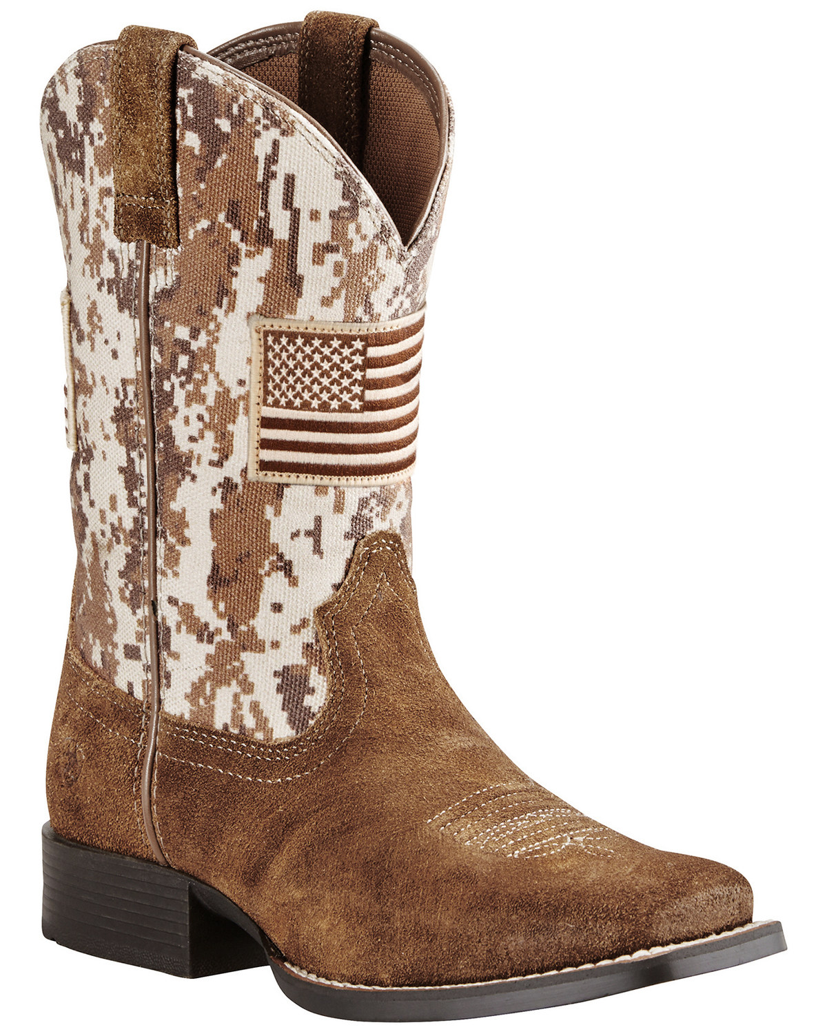 Ariat Boys Brown Patriot Boots Wide Square Toe Boot Barn