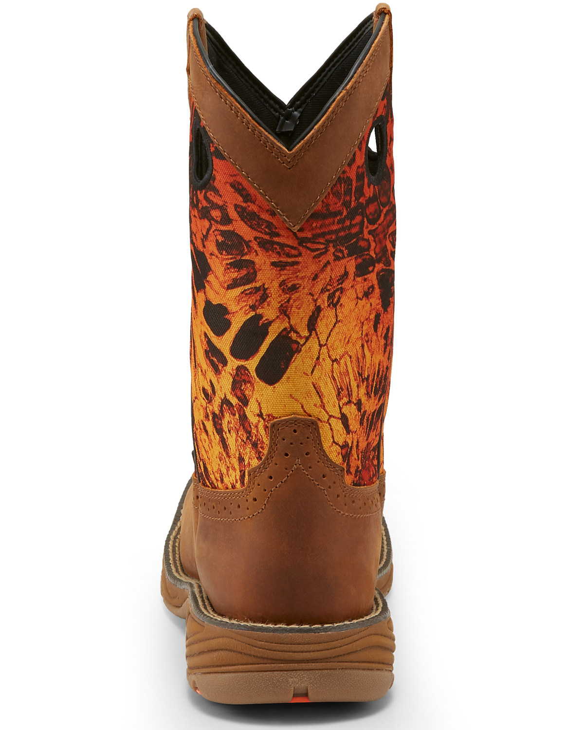 Justin Men S Stampede Rush Western Work Boots Square Toe