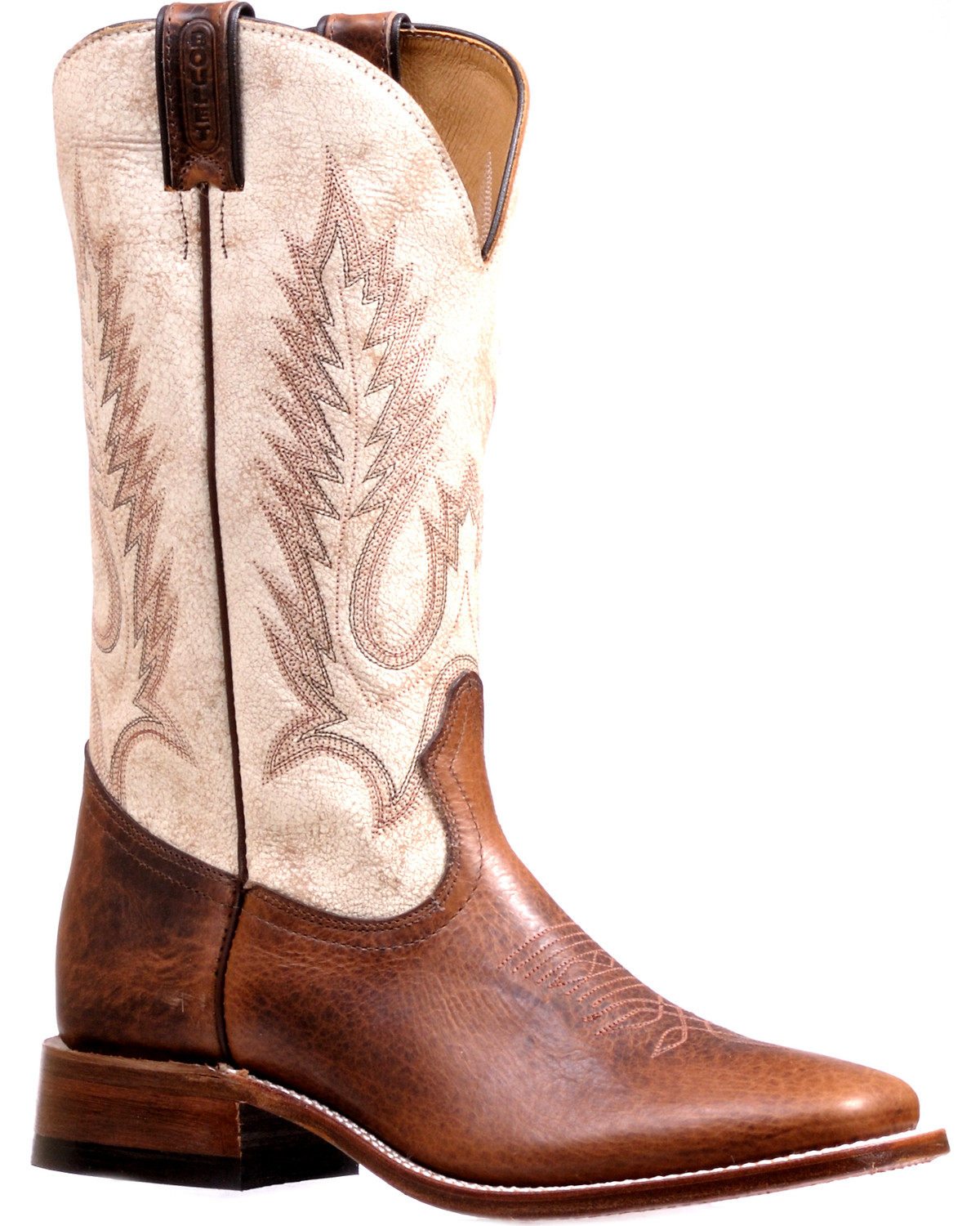 692a2213425 Boulet Men's Bone Stockman Cowboy Boots - Square Toe