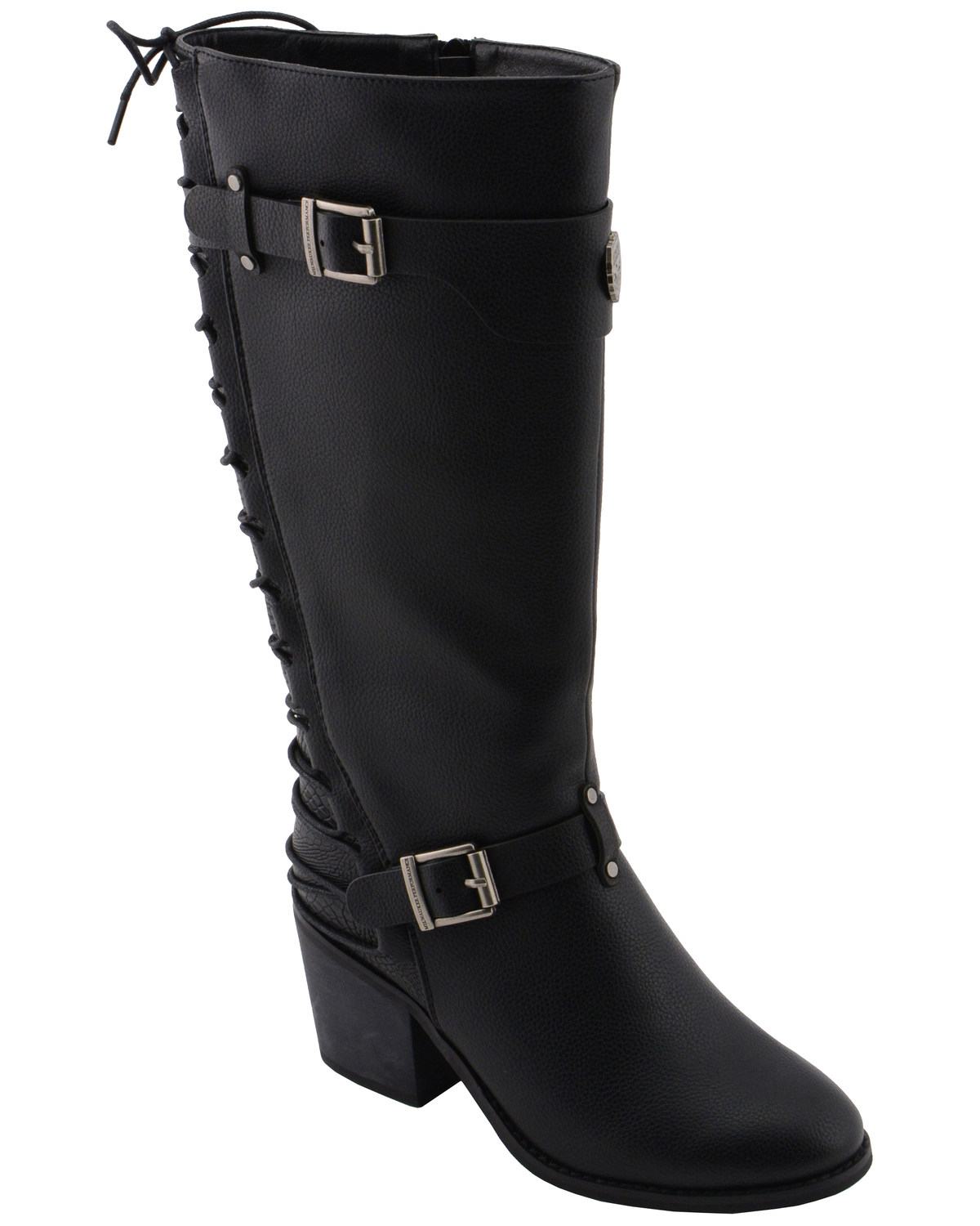7152a4eacc8 Milwaukee Leather Women's Back End Laced Riding Boots - Round Toe