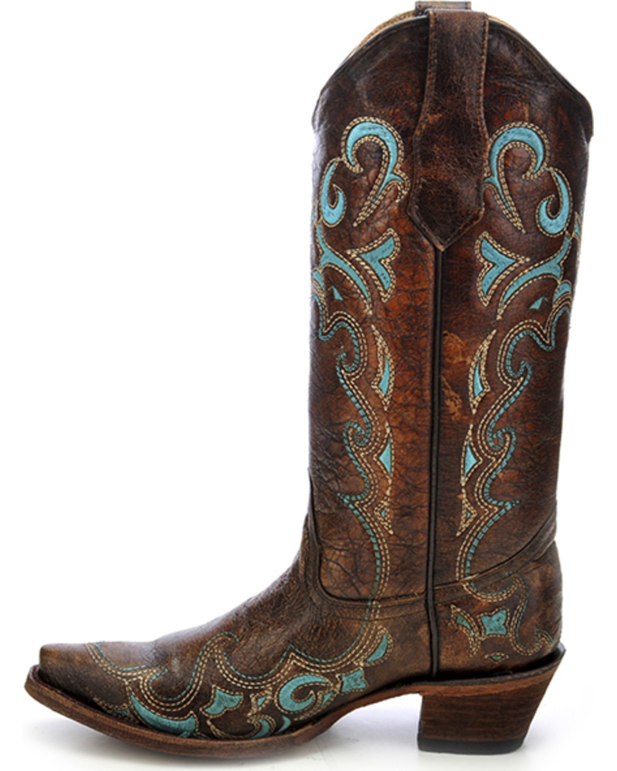 35ca1dda0ce Circle G Women s Turquoise Side Embroidered Western Boots