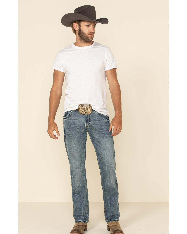7e9047f1 Zoomed Image Wrangler Men's Retro Slim Fit Boot Cut Jeans , Blue, ...