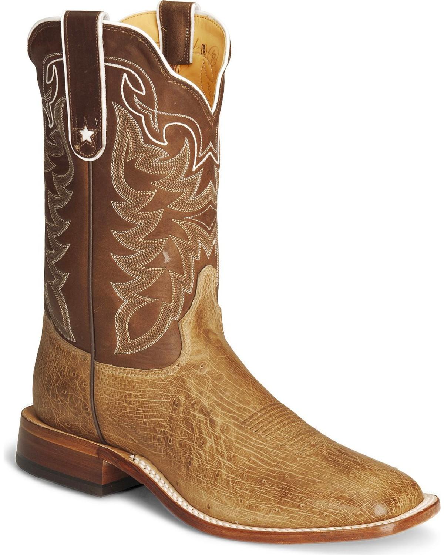 Tony Lama Smooth Ostrich Cowboy Boots