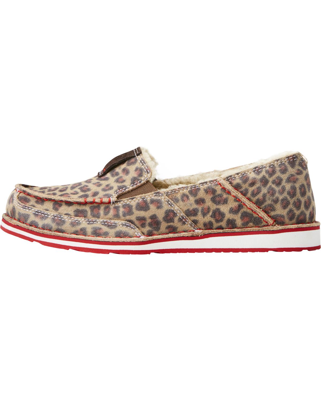 de5b07cffba34 Ariat Women s Fleece Cheetah Cruiser Shoes - Moc Toe