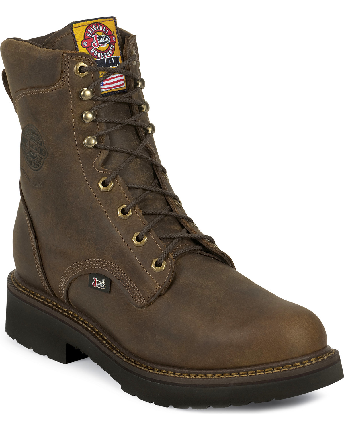 Justin Men S J Max Rugged Gaucho 8 Quot Lace Up Work Boots