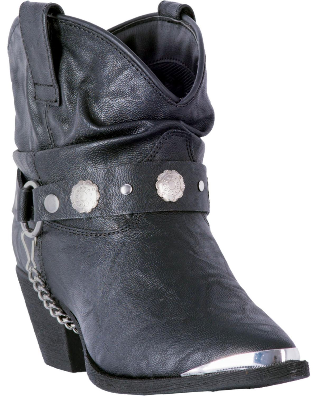 Dingo Women's Black Leather Concho
