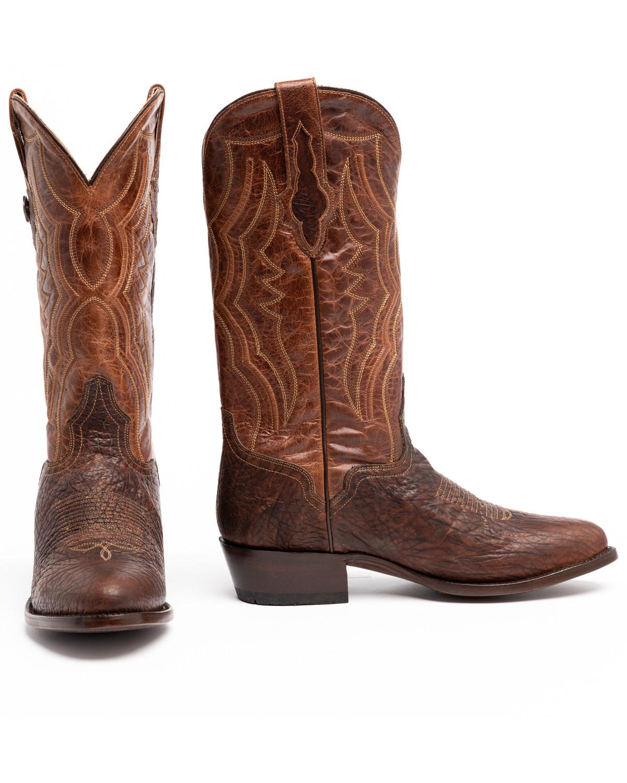 bc8687f573f63 El Dorado Men s Handmade Whiskey Bison Cowboy Boots - Round Toe ...