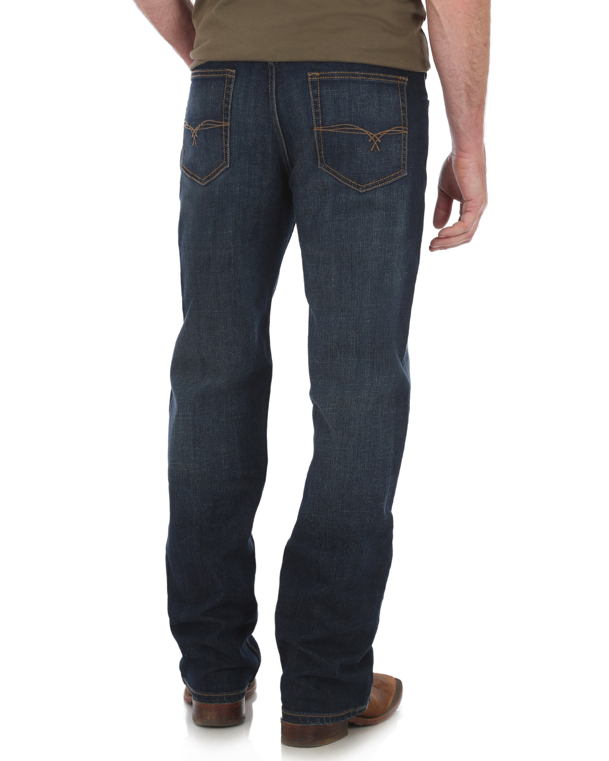 2f4bdc0fa18 Zoomed Image Wrangler 20X Men's No. 33 Relaxed Fit Boot Cut Jeans , Blue,  hi-