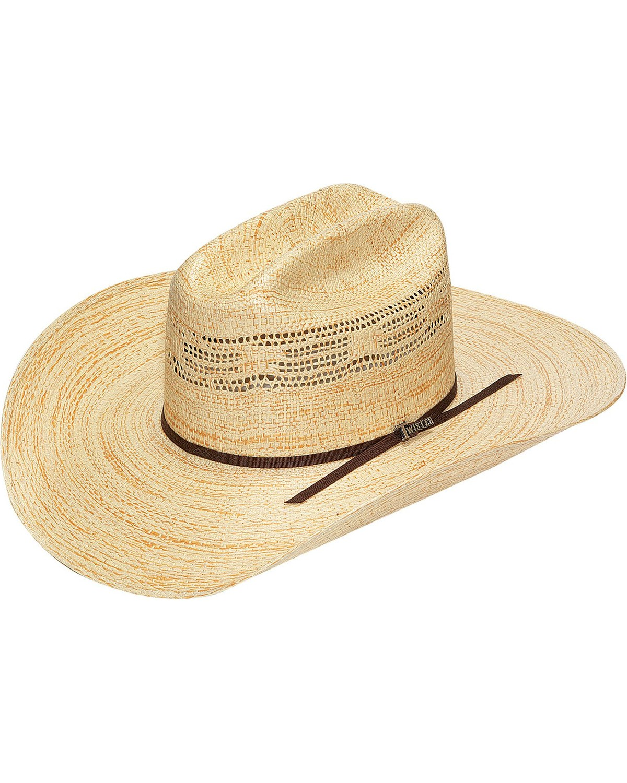 Bangora Straw Hat: Twister Bangora Straw Cowboy Hat