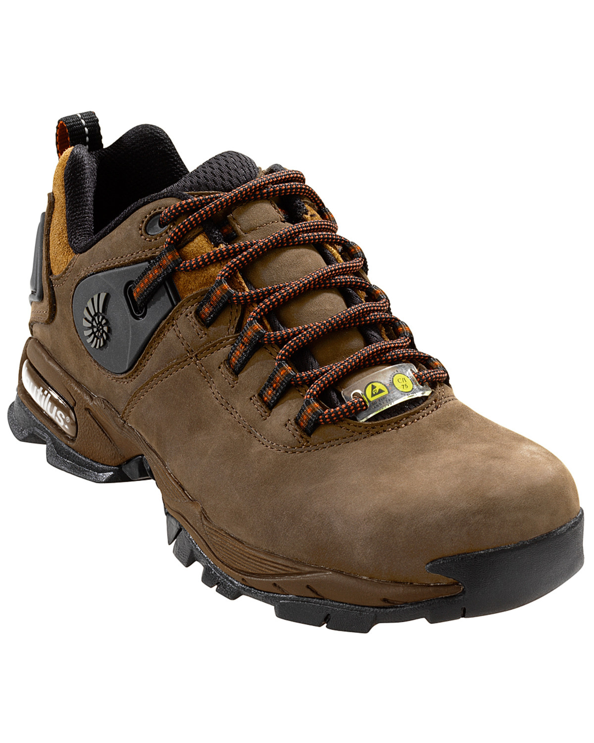 9f619cae01427f Zoomed Image Nautilus Men's Composite Safety Toe ESD Athletic Work Shoes,  Brown, ...