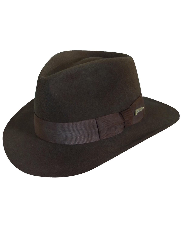 38802e85002d1 Dorfman Men s Indian Jones Wool Felt Crushable Hat
