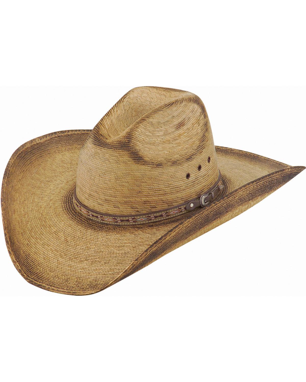 Justin Men s Toast Trail Palm Leaf Cowboy Hat  eec34c29fd2