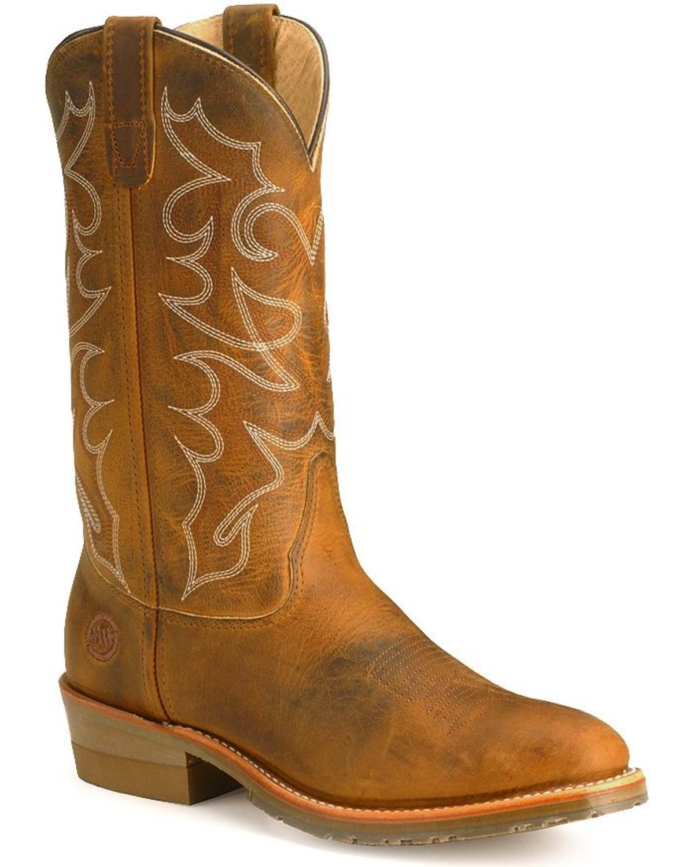 15960a9f250 Double-H Men's Gel ICE Steel Toe Western Work Boots