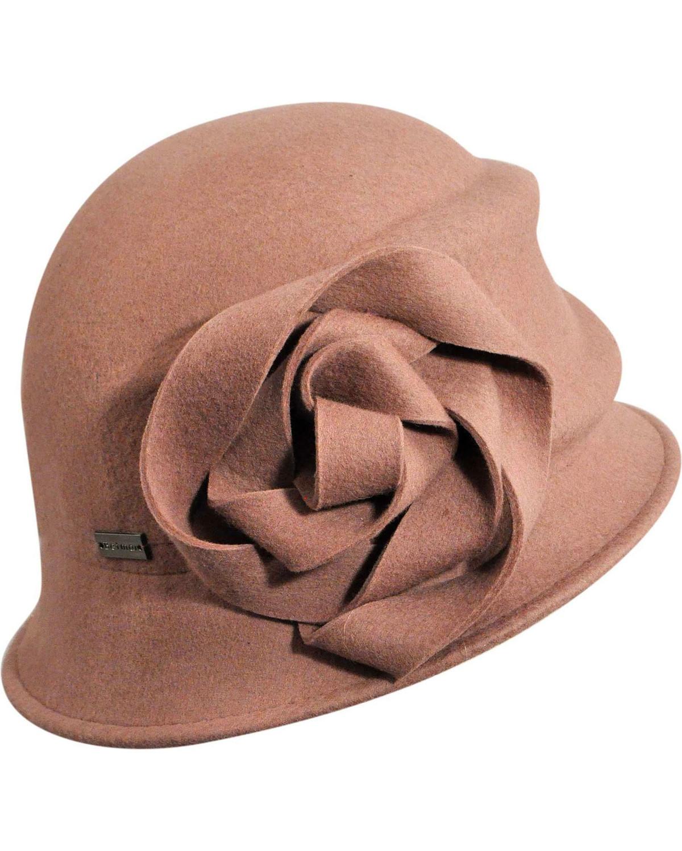 Betmar Women s Alexandrite Rose Wool Felt Cloche Hat  41c4a5dd6ab