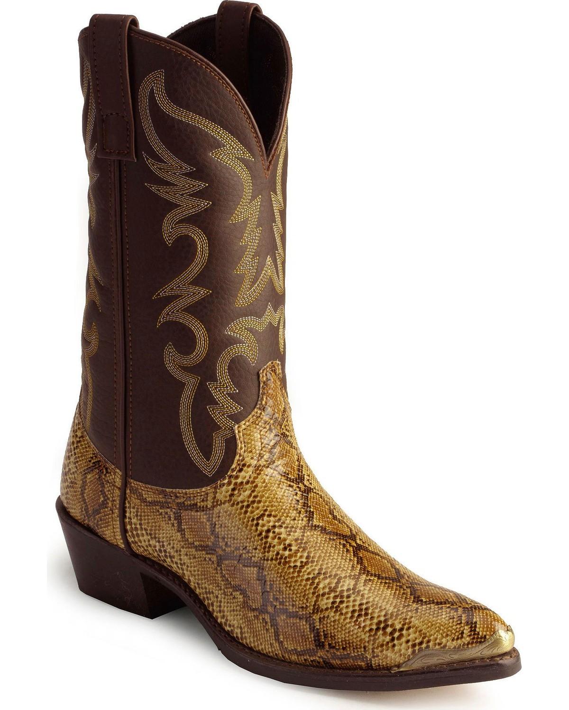 f09d36d01ed Laredo Python Print Cowboy Boots - Pointed Toe