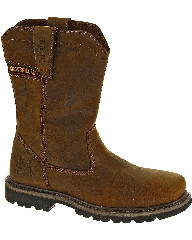 caterpillar boots slip on