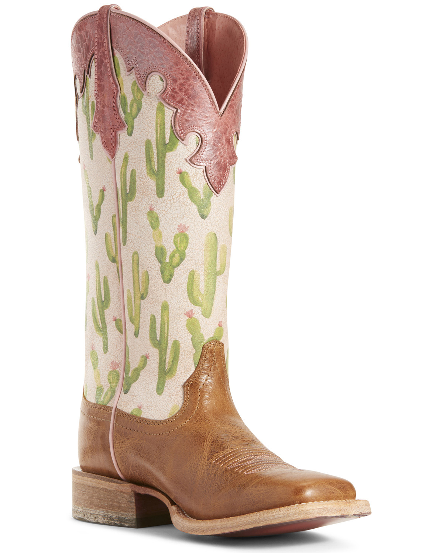 62c6835f363 Ariat Women's Fonda Cactus Print Western Boots - Wide Square Toe