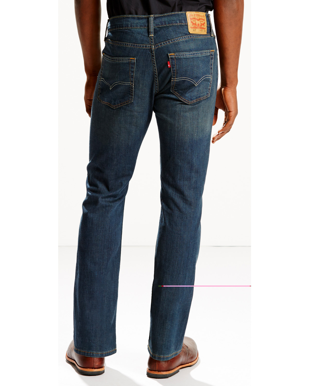 f18390a19bf Levi's Men's 527 Low Rise Zip Fly Stretch Jeans - Boot Cut